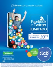 Facebook and Twitter ilimited TIGO promociones - 17oct13