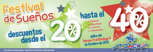 Festival de sueños y descuentos ST JACKS - 04oct13