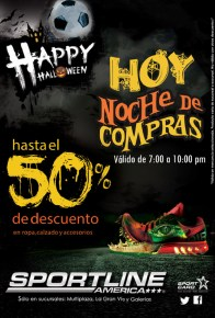 Happy Hallowenn discounts SPORT LINE america noche de compras - 24oct13