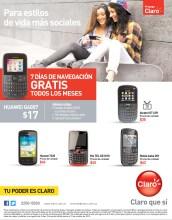 Huawei phones promociones CLARO El Salvador - 09oct13