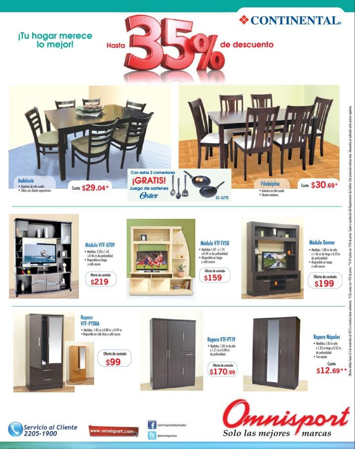 Omnisport juegos de comedor y muebles 31oct13 ofertas for Juego de comedor y muebles