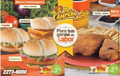POLLO CAMPERO menus de hamburguesas - 30oct13
