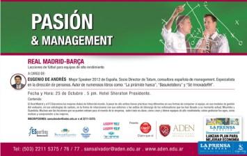 Pasion and Managment con Eugenio de Andres