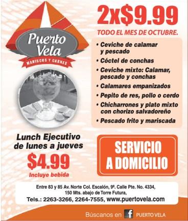 Puerto Vela promociones mes de octubre