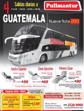 Pullmantur viajes GUATEMALA promociones - 22oct13