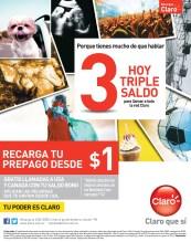 Recargas CLARO hoy triple saldo - 23oct13