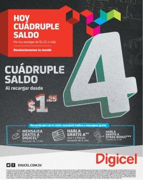Recargas DIGICEL hoy cuadruple saldo - 28oct13