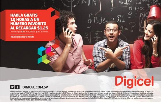 Recargas DIGICEL hoy habla 10 horas ggratis - 02oct13