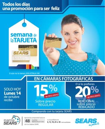 SEARS promocion de hoy en camara fotograficas - 14oct13