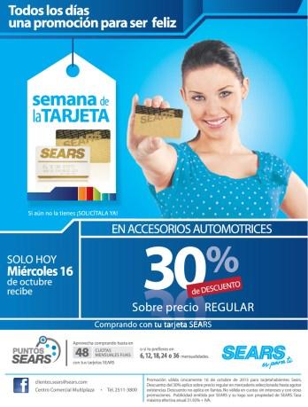 SEARS promocion de hoy miercoles accesorios automotrices - 16oct13