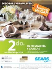 SEARS promociones jueves de hogar en cristaleria - 03oct13