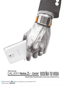 Samsung Galaxy note 3 and GEAR diseña tu vida