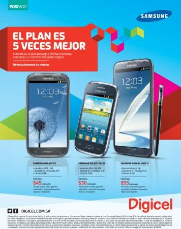 Samsung galaxy smart phone DIGICEL promociones - 30oct13