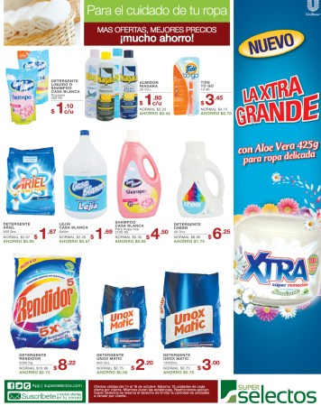 Super Selectos ofertas de hoy detergentes - 14oct13