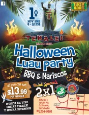 TEKALEI island grill halloween party 2x1 - 31oct13