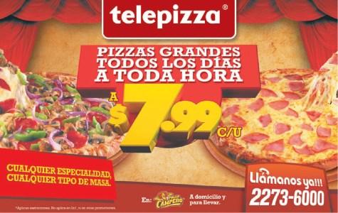 Telepizza promocion en pizzas grades - 24oct13