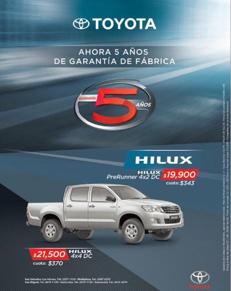 Toyoya Hilux 4x4 DC savings