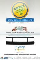 Warehouse clearence sale SLEEP CENTER - 17oct13