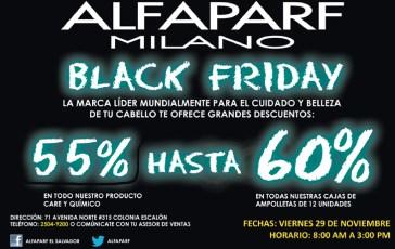 ALFAPARF Milano black friday discounts - 29nov13