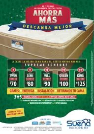 Ahorra Mas con descuentos en camas SUEÑA - 22nov13