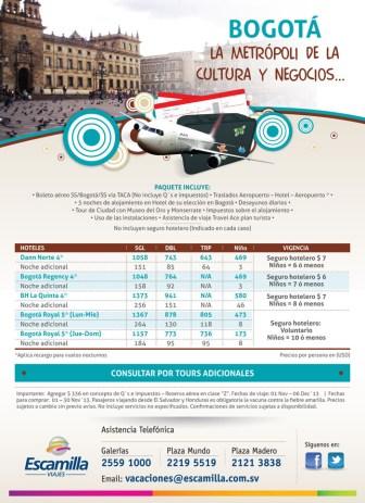 BOGOTA la metropoli de la cultura y negocios ESCAMILLA viajes - 06nov13