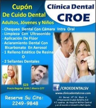 CUPON de cuido dental clinica CROE - nov13