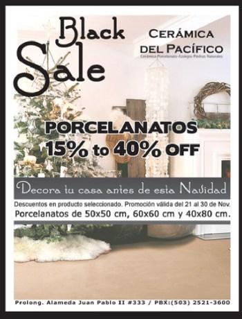Ceramica del Pacifico BLACK SALE 2013