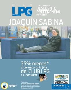 Club LPG descuento preferencial JOAQUIN SABINA - 18nov13
