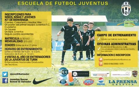 Escuela de futbol JUVENTUS el salvador - 21nov13