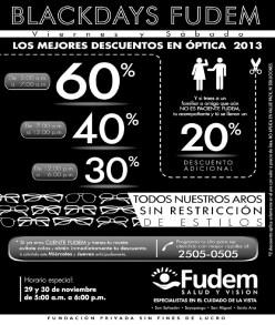 FUDEM salud y vision Black Friday 2013