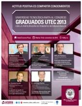 GRADUADOS UTEC 2013 conferencias internacionales