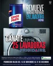 Gana lavadoras con UNOX Matic remueve manchan profundas en lavadora