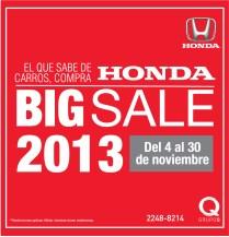 HONDA BIG SALE 2013 en Grupo Q
