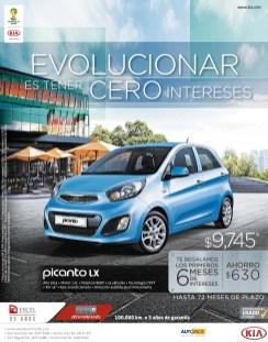KIA Picanto LX con cero interes ahorro - 04nov13