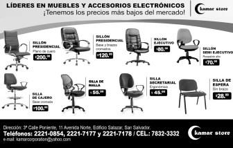 Kamar Store promociones en sillas de oficina - 26nov13
