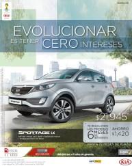 Kia Sportage LX ahorro increible - 07nov13