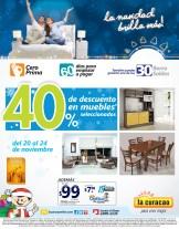 La Curacao descuento en muebles seleccionados - 20nov13