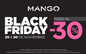MANGO store black friday discount - 29nov13
