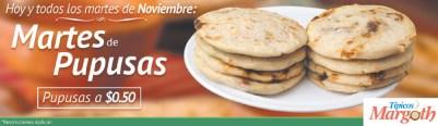 Martes de pupusas en noviembre TIPICOS MARGOTH
