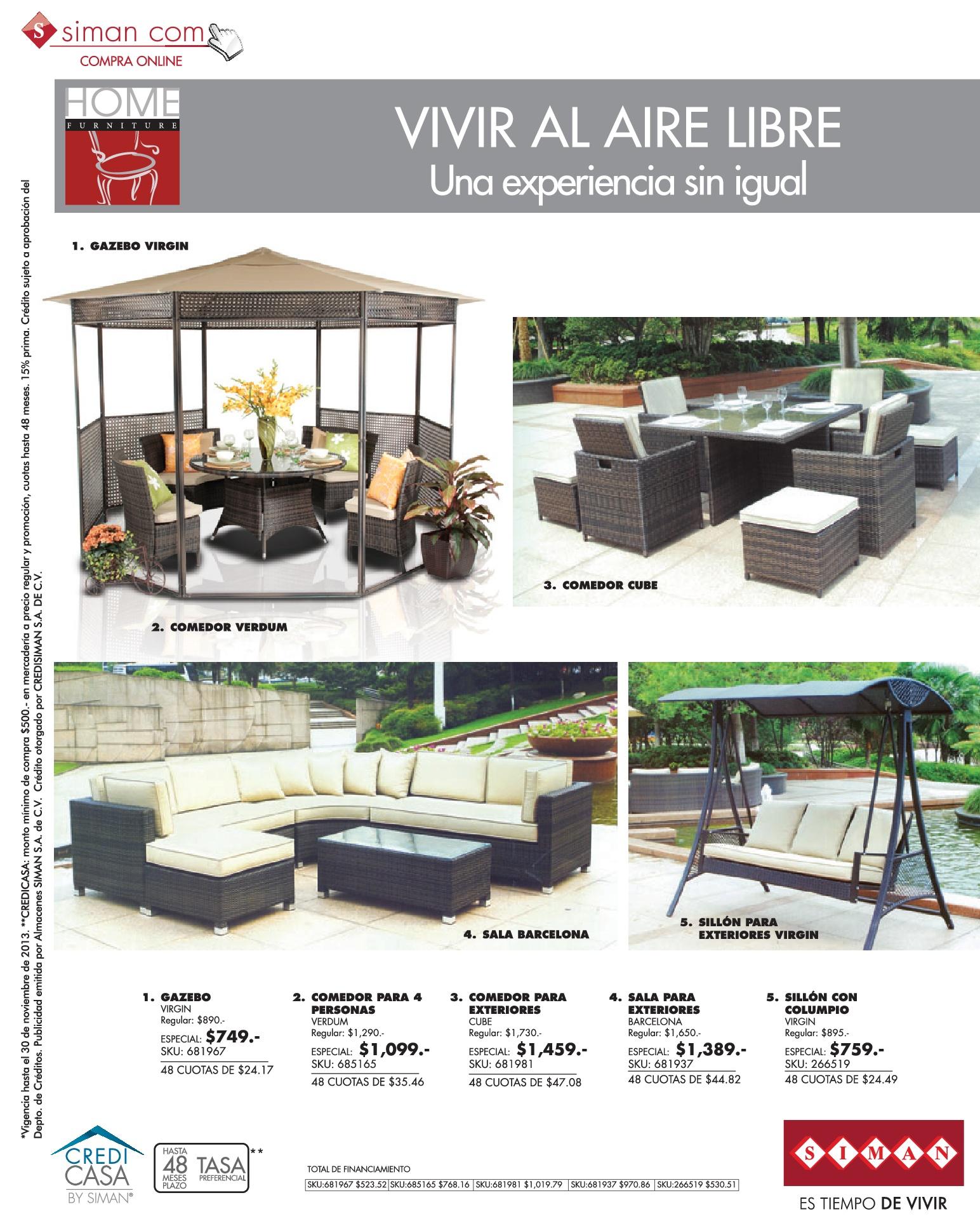 Muebles de jardin y terrazas SIMAN.com ofertas - 02nov13 ...
