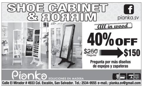 PIANKA shoe cabinet and mirror - 05nov13