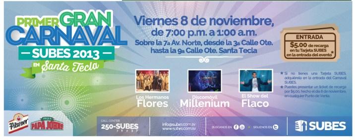 Primer GRAN Carnaval SUBES 2013 Viernes 8 de Noviembre