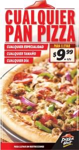 Promocion PIZZA HUT el salvador cualquie pizza - 08nov13