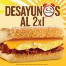 Promocion Quiznos desayunos al 2x1 - 19nov13