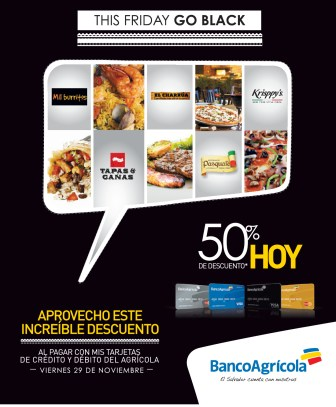 Restaurantes trajetas Banco agricola disounts - 29nov13