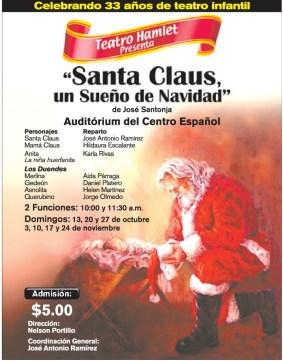 SANTA CLAUS un sueño de navidad TEADRO HAMLET