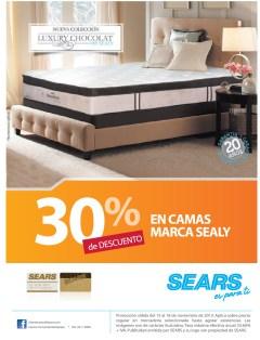SEARS descuento en camas SEALY luxury chocalat - 15nov13