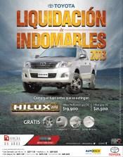 Toyota Hilux liquidacion de indomables GRATIS rines halogenos estribos barras de techo - 13nov13