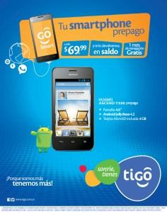 Tu smartphone prepago con TIGO promociones - 06nov13