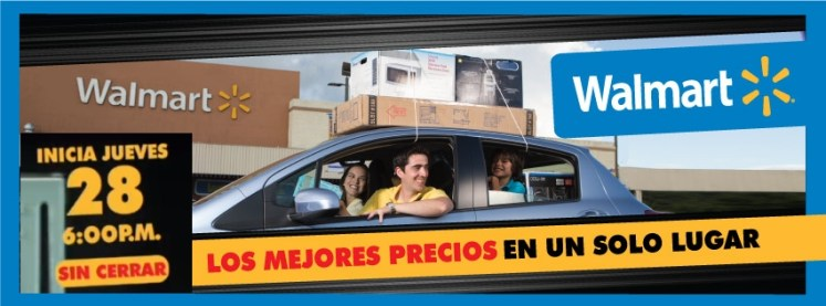 black weekend Walmart inicia Jueves 28 hora 6pm
